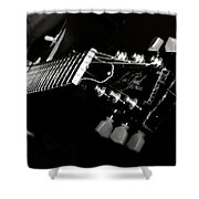 Guitarist Shower Curtain by Stelios Kleanthous