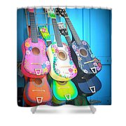 Guitarras Floriadas Shower Curtain