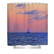 Gulf Coast Sailboat Shower Curtain