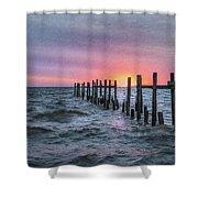 Gulf Coast Sunrise Shower Curtain