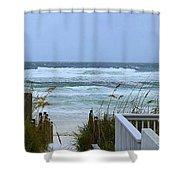 Gulf Coast Waves Shower Curtain