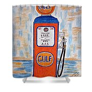 Gulf Gas Pump Shower Curtain