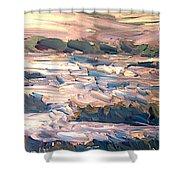 Gulf Island Sunset Shower Curtain