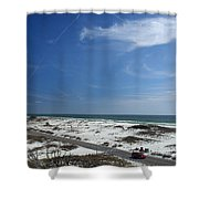Gulf Of Mexico At Pensacola Beach Shower Curtain