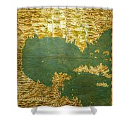 Gulf Of Mexico, States Of Central America, Cuba And Southern United States Shower Curtain