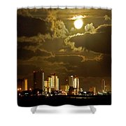 Gulf Shores Night Skys Shower Curtain