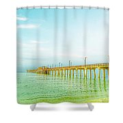 Gulf Shores Pier Shower Curtain