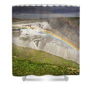 Gulfoss Waterfalls Shower Curtain