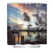 Gulfport Harbor Colors Shower Curtain
