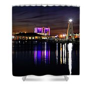Gulfport Lighthouse - Mississippi - Harbor Shower Curtain