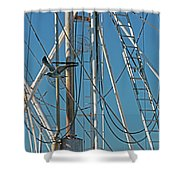 Gull At Sandwich Marina Shower Curtain