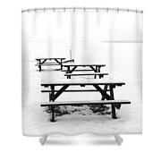 Gull Lake Winter Study 3 Shower Curtain
