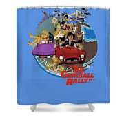 Gumball Rally Shower Curtain