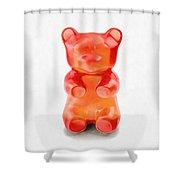 Gummy Bear Red Orange Shower Curtain