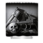 Gun And Skull Shower Curtain