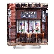 Johnson City Tennessee - Gun Shop Shower Curtain