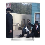 Gunfight Re-enactment O.k. Corral Tombstone Arizona 2004 Shower Curtain
