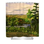 Gunflint Overlook Shower Curtain