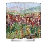 Gunnison Ridge Colorado Shower Curtain