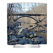 Gunpowder Falls St Pk Bridge - Pano Shower Curtain