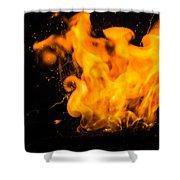 Gunpowder Flames Shower Curtain