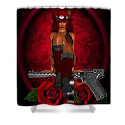 Guns And Roses Shower Curtain