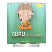 Guru Concepts Logo Shower Curtain
