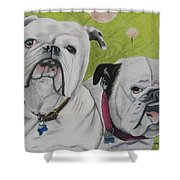 Gus And Olive Shower Curtain