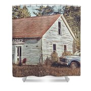 Gus Klenke Garage Shower Curtain