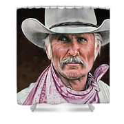 Gus Mccrae Texas Ranger Shower Curtain by Rick McKinney