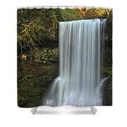Gushing At Silver Falls Shower Curtain
