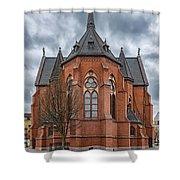 Gustav Adolf Church Facade Shower Curtain
