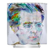 Gustav Mahler - Watercolor Portrait.3 Shower Curtain