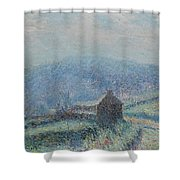 Gustave Loiseau 1865 - 1935 Jelly White Huelgoat, Finistere Shower Curtain