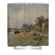Gustave Loiseau 1865 - 1935 Marie Bridge In Paris Shower Curtain