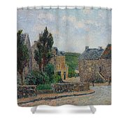 Gustave Loiseau 1865 - 1935 Rue A St. Lunaire Shower Curtain