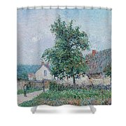 Gustave Loiseau 1865 - 1935 Small Farm In Vaudreuil, Time Gray Shower Curtain