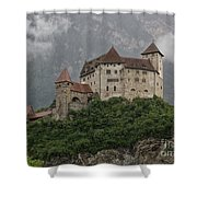 Gutenberg Castle Shower Curtain by Yair Karelic
