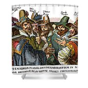 Guy Fawkes, 1570-1606 Shower Curtain