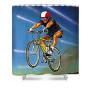 Guy In The Sky Shower Curtain