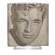 Guy Madison, Vintage Actor Shower Curtain