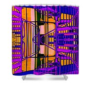 Gym Staircase Shower Curtain