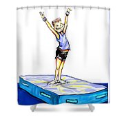 Gymnastic Perfection Shower Curtain