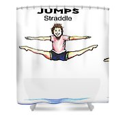 Gymnastics Jumps Shower Curtain