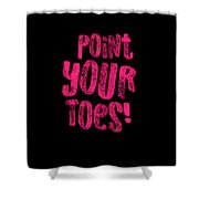 Gymnastics Point Your Toes Hot Pink Gymnast Light Shower Curtain