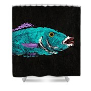 Gyotaku Hog Lipped Snapper Shower Curtain