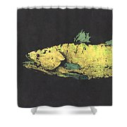 Gyotaku Snook Shower Curtain by Captain Warren Sellers
