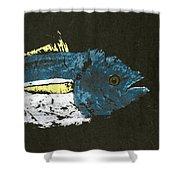 Gyotaku Yellowfin Tuna Shower Curtain