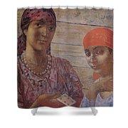 Gypsies Kuzma Petrov-vodkin - 1926-1927 Shower Curtain