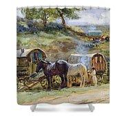 Gypsy Encampment Shower Curtain